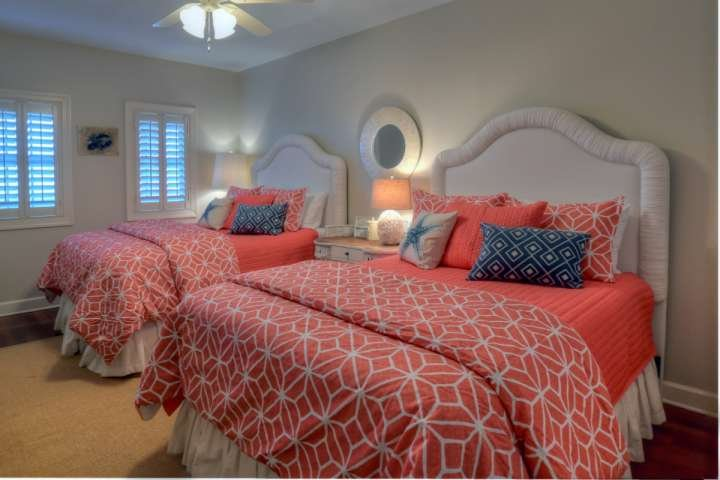Guest Bedroom #2 features two queen beds and private bath!