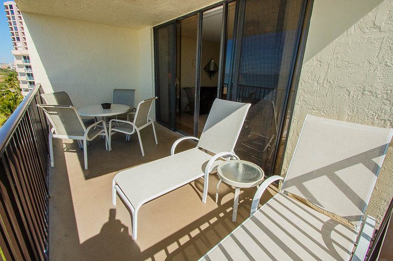 Relax on Loungers on Balcony