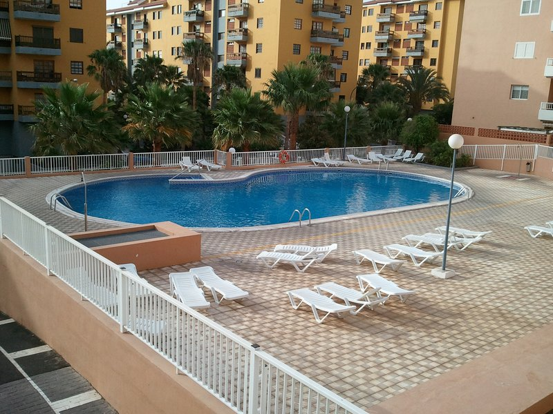 site swimming pool and parking