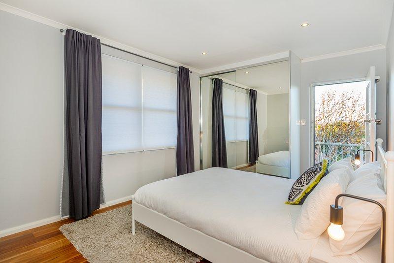 cama de casal com varanda