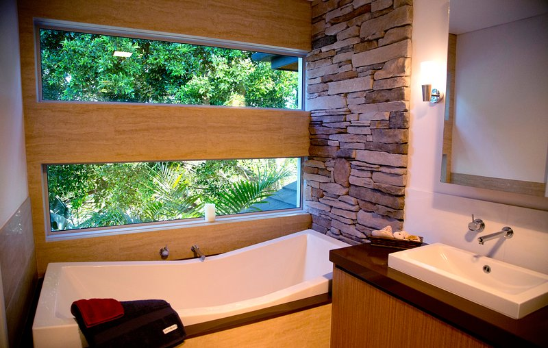 The tree top view bath is a guest favourite!
