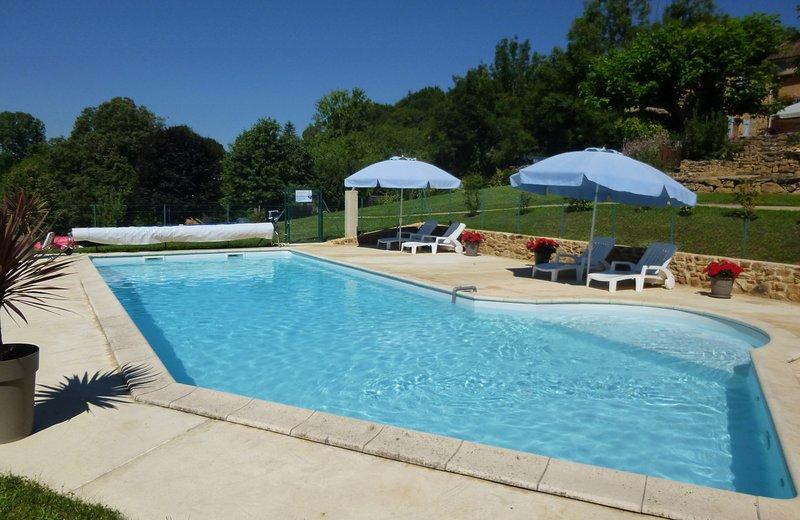 13 mtr x 4,5 mtr de cloro libre de la piscina