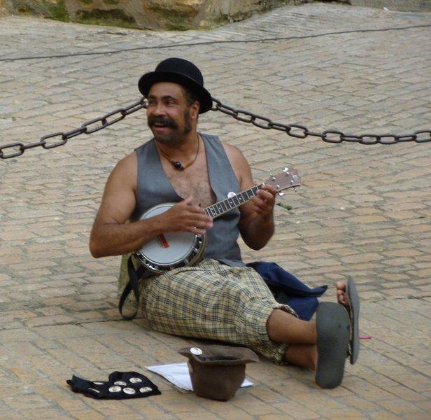 músico callejero Sarlat