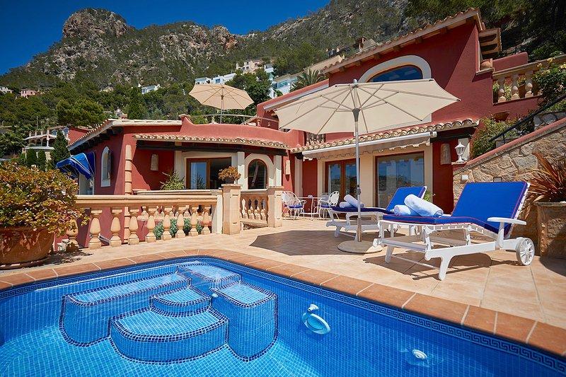 Las Escaleras – Pablo+Victoria 74 B+C – Sea View/Private Pool, vacation rental in S'Arraco