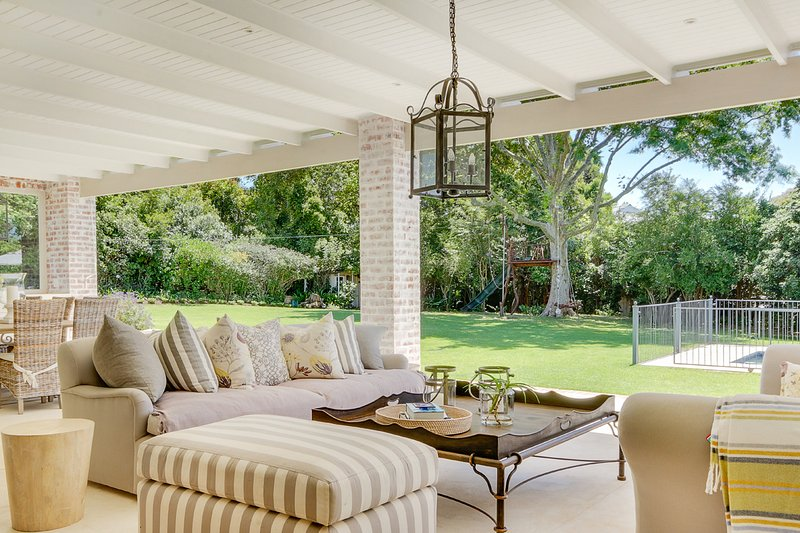 Covered patio allowing indoor/outdoor living