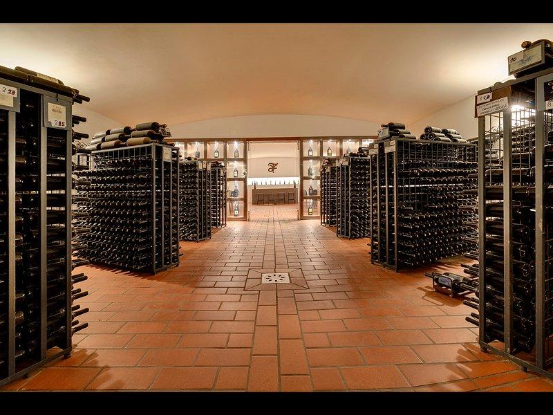 Estate's wine tasting Room
