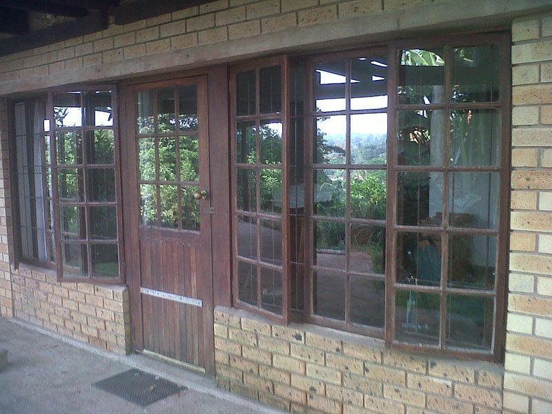Entrance & lots of windows