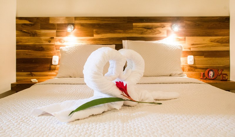 Quarto privativo com cama queen-size