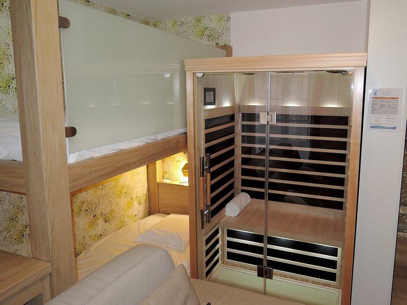 Sauna and bunk beds