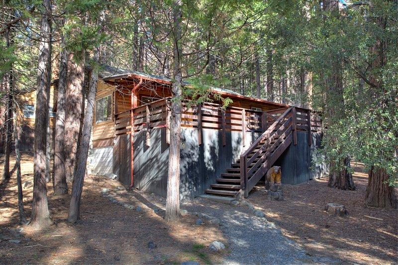escadas da frente a cabine