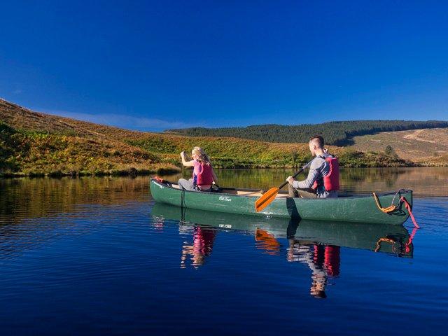 Canoeing on Gortin Lake