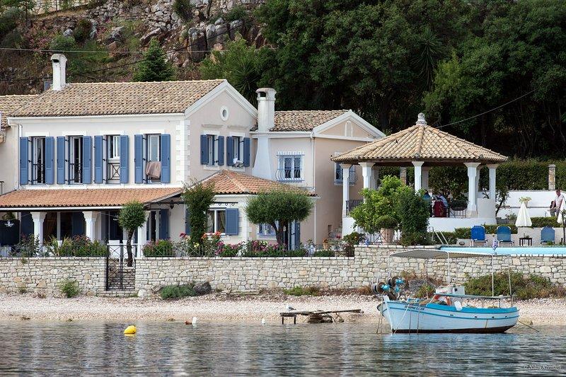 Beach front Villa Imerolia in Kassiopi, Corfu