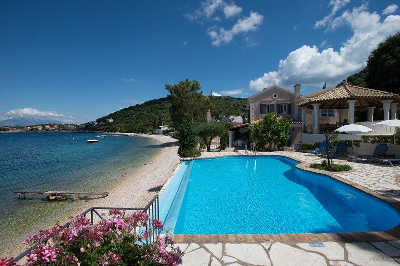 Imerolia beach Villa Kassiopi Corfu, holiday rental in Corfu