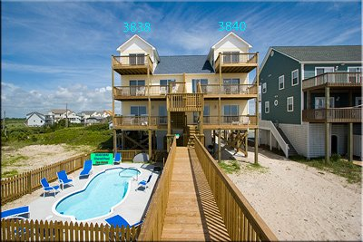 View of duplex from the beach