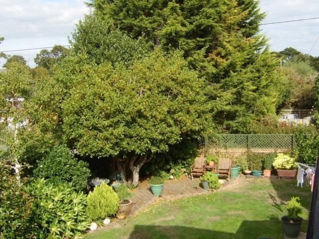 Garten ist abgelegen von reifen Sträucher und hat einen sonnigen Deck, ein Seitenbereich bietet Platz für Jollen