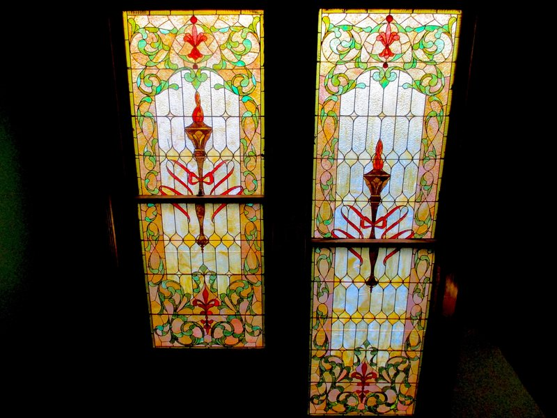 Some of the most impressive details in our home are the gorgeous windows!  (Art glass by staircase)