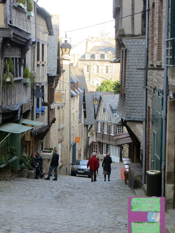 Dinan has many quaint cobbled streets to meander along and browse at the many boutiques