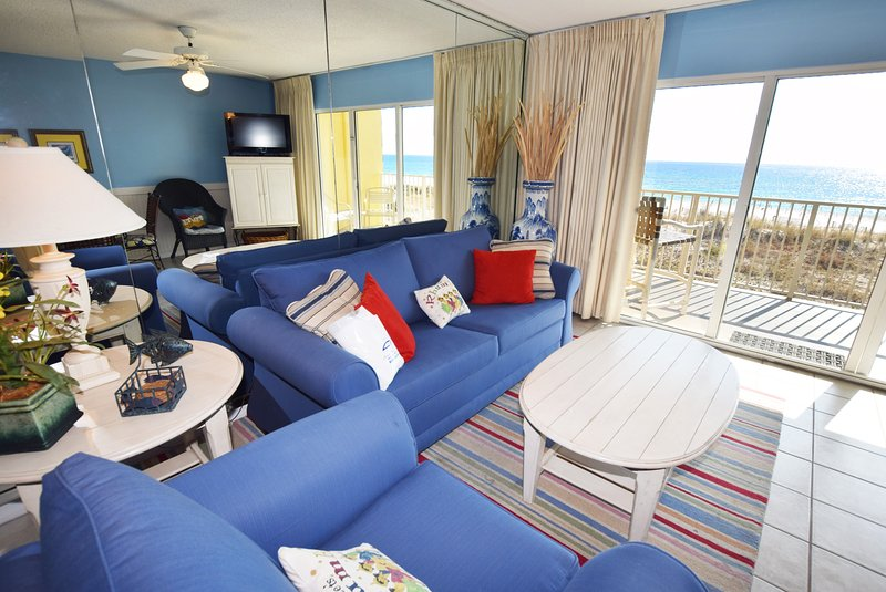 Living Room Gulf Dunes 206 Fort Walton Beach Florida Okaloosa Island Destin