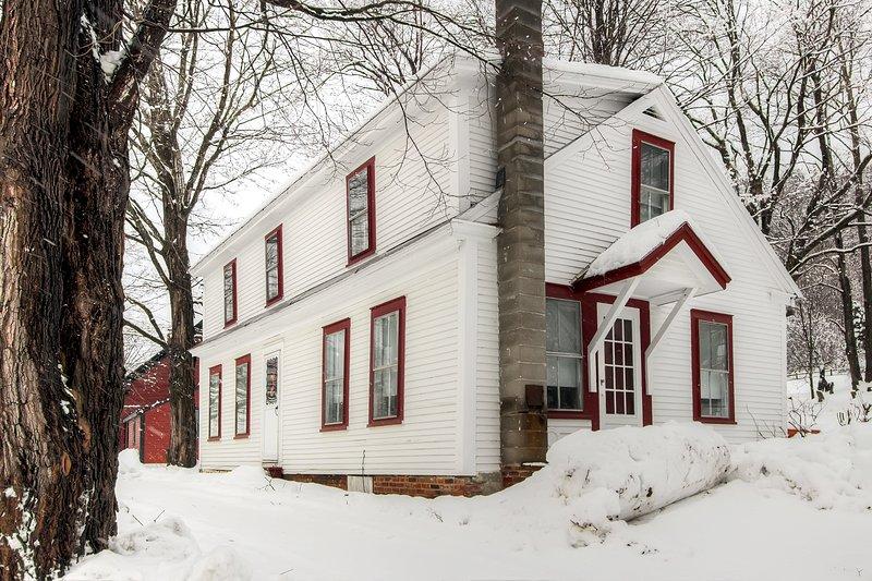 Cottage de campo Bridgewater en el invierno