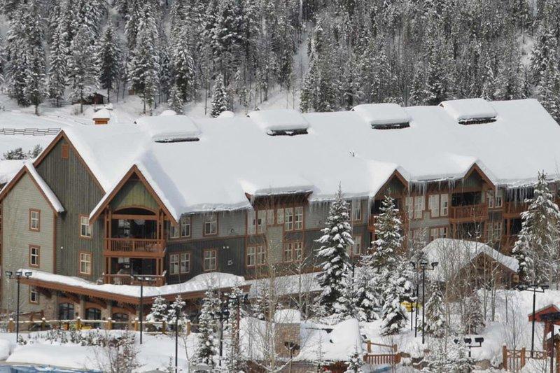 På vintern är Panorama en snöig land