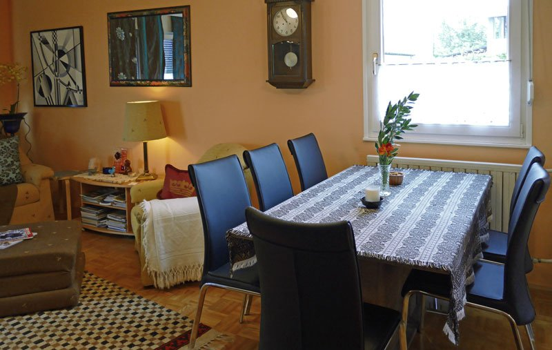 Dining area. Table extends for 12 people