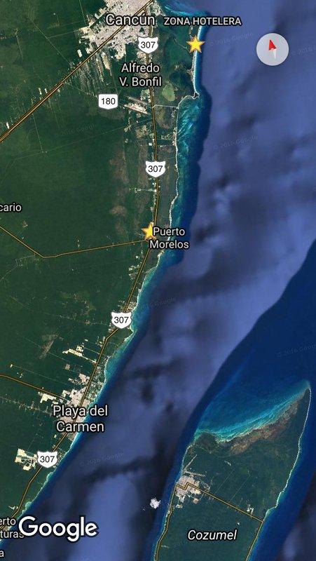 Cancun, Zona Hotelera, Puerto Morelos, Playa del Carmen, Cozumel zona