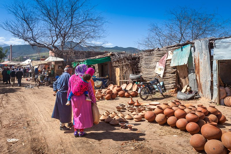 tribo berbere, mercado semanal país