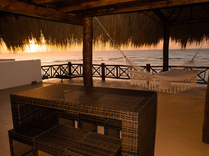 Enjoy drinks or dinner while watching the sunsets on our new and private rootop deck.