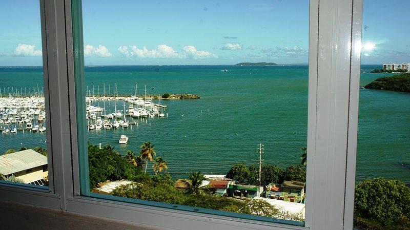 View outside bedroom window.