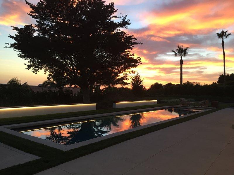 Pools sunset