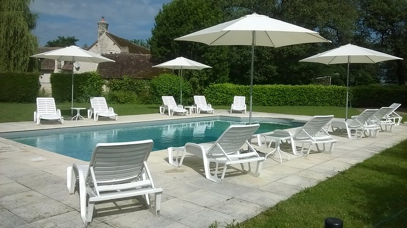 Our newly refurbished and heated swimming pool.