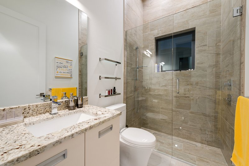 Guest Bathroom with Hand shower and Rain shower