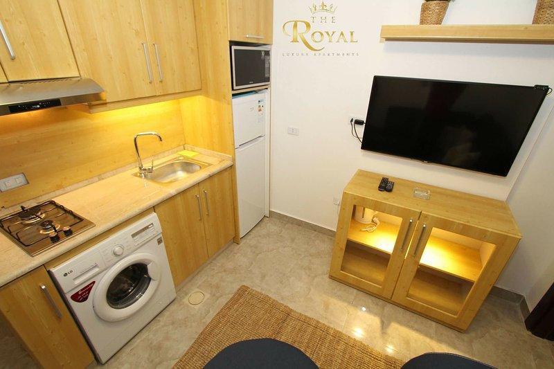 TV unit & Kitchen
