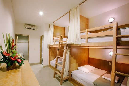 Dormitory room number 2, with 4 bed for 4 person, 2 bathroom and locker. cozy and clean place.