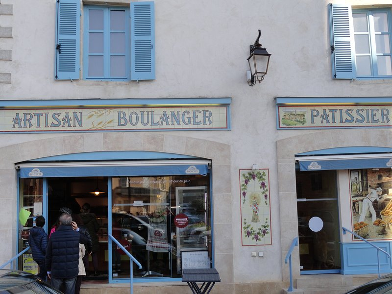 Our favourite boulangeire, opposite the Church.