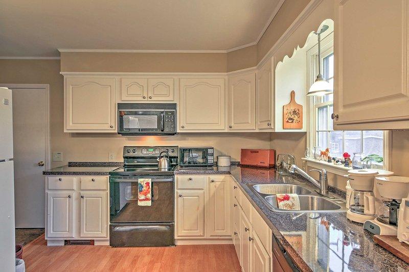Mostra le tue abilità culinarie nella cucina completamente attrezzata!