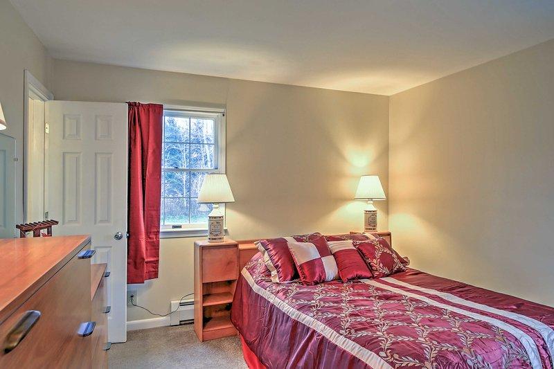Recuperare il vostro sonno presso l'accogliente letto matrimoniale.