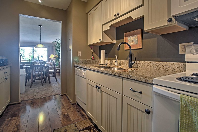 Prepare a home cooked meal in the fully equipped kitchen.