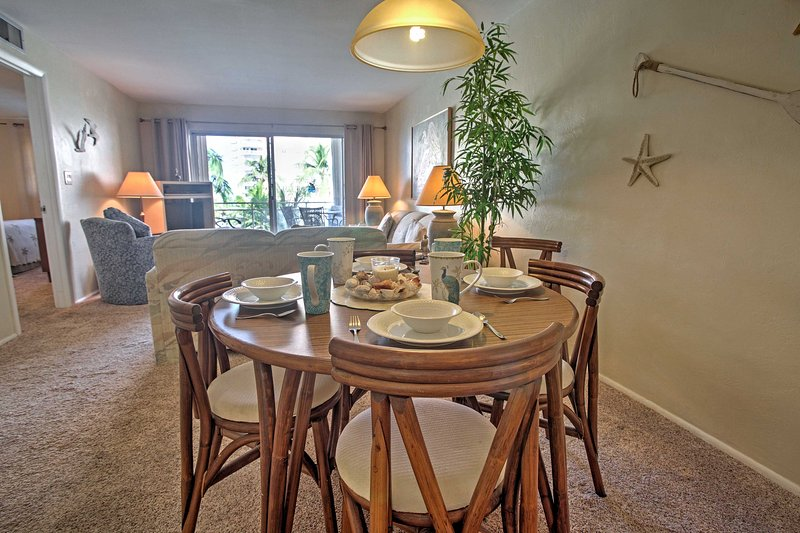 Sit back and dine at this lovely dining area.