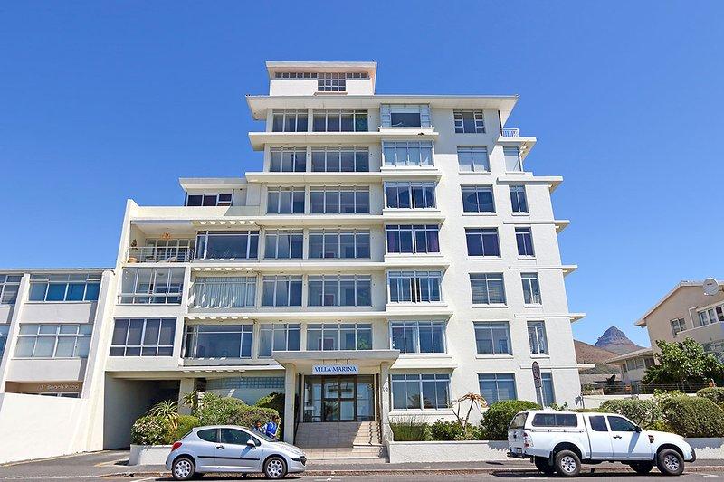 Ce complexe d'appartements de la mer
