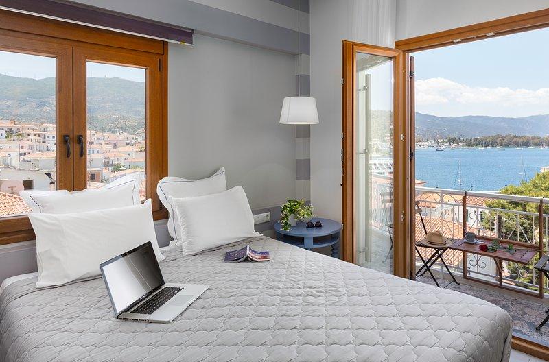 Superior Room with Sea View, aluguéis de temporada em Galatas