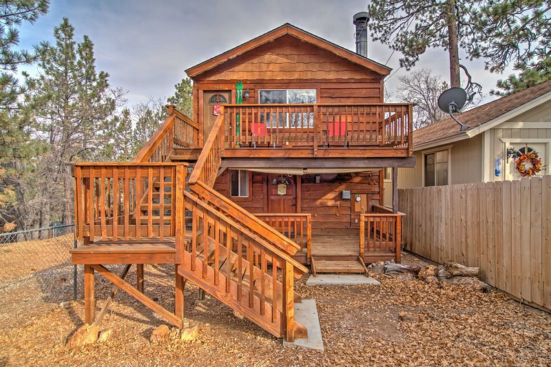 Your Sugarloaf retreat begins at this rustic and alluring vacation rental cabin!