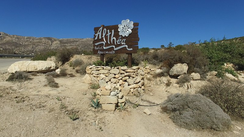 Althea boutique Hotel Sign
