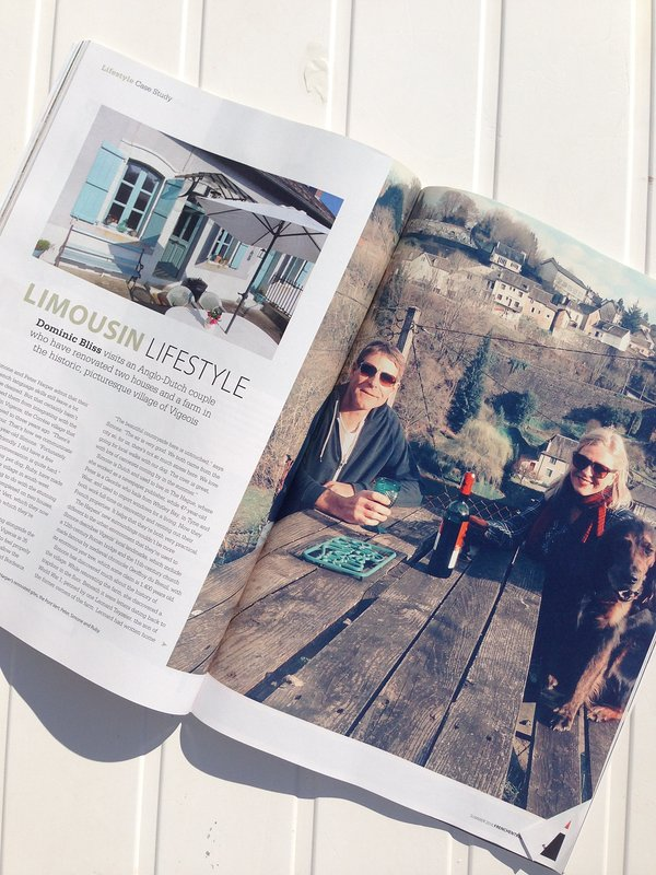 An article about the cottage in French Entree