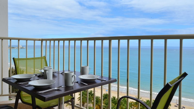 Enjoy a relaxing meal while admiring the view.