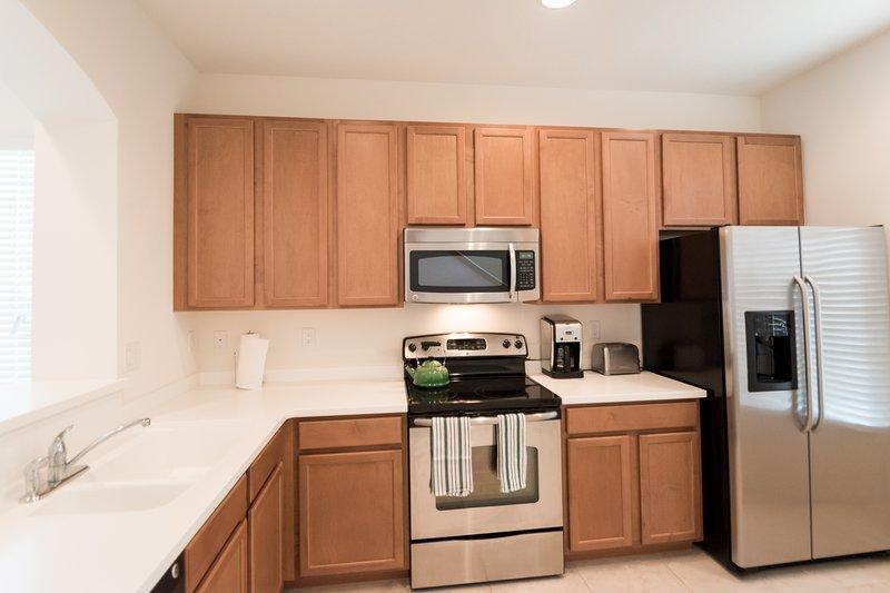 Interior, cocina, salón, Microondas, Horno