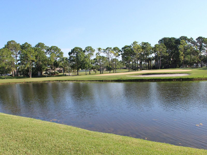 Extérieur, Étang, eau, terrain de golf, Grassland