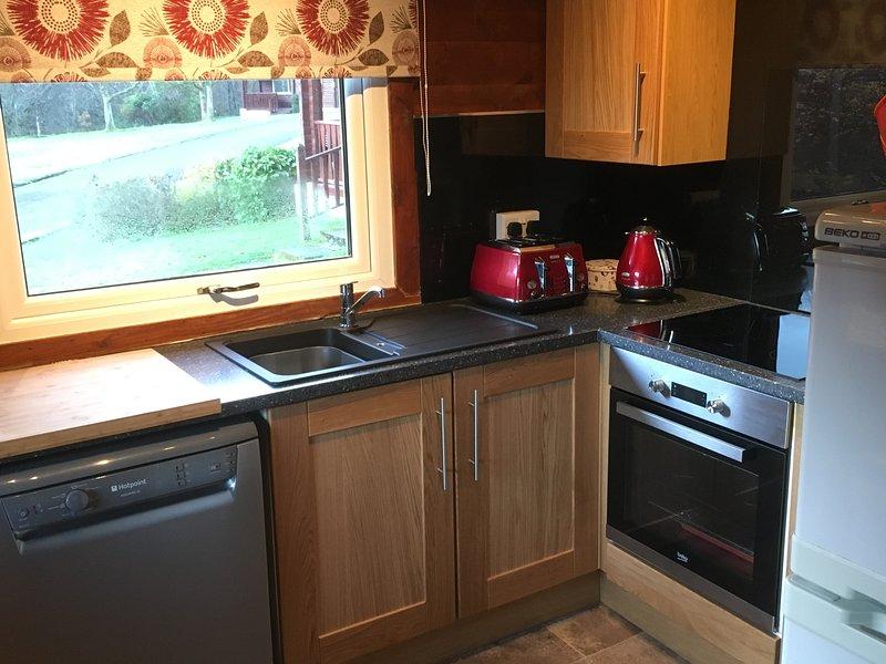 Hawthorn Kitchen with Induction Hob, Oven, Microwave, Dishwasher, Fridge, Freezer, Kettle 'n Toaster