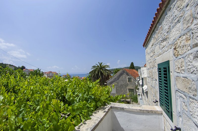 Renovated stone house - two apartments, lovely terrace and sea view, location de vacances à Sumartin