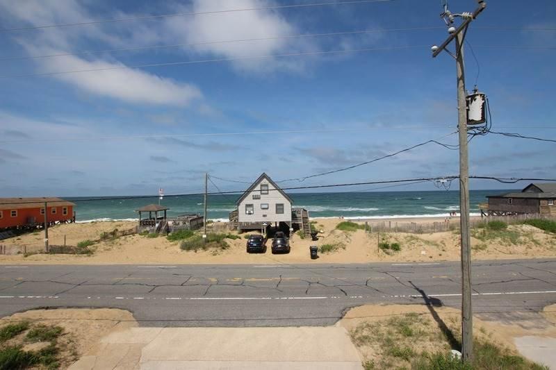 Edificio, casa, playa, costa, al aire libre